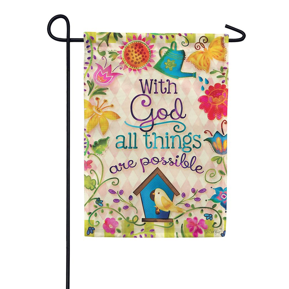 With God Double Sided Garden Flag