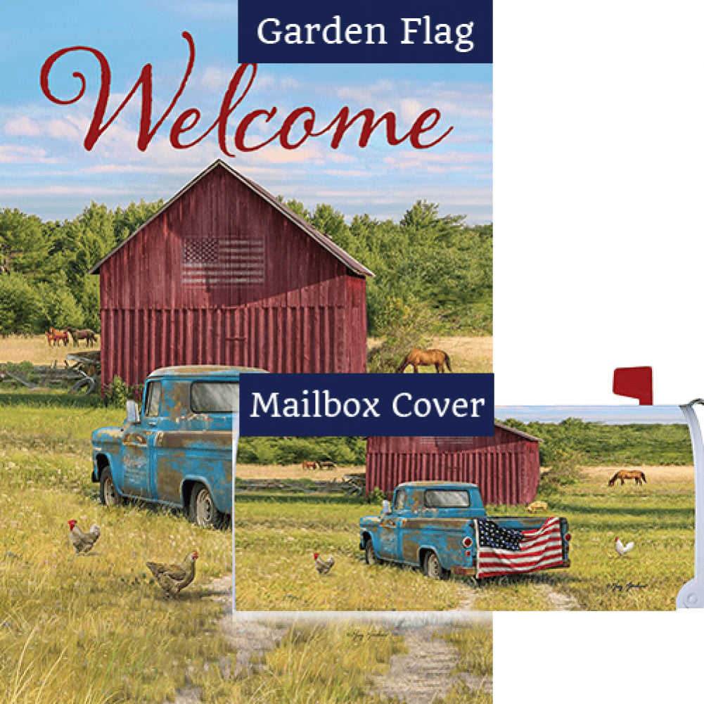 Summer Truck American Double Sided Flag Mailwrap Set (2 Pieces)