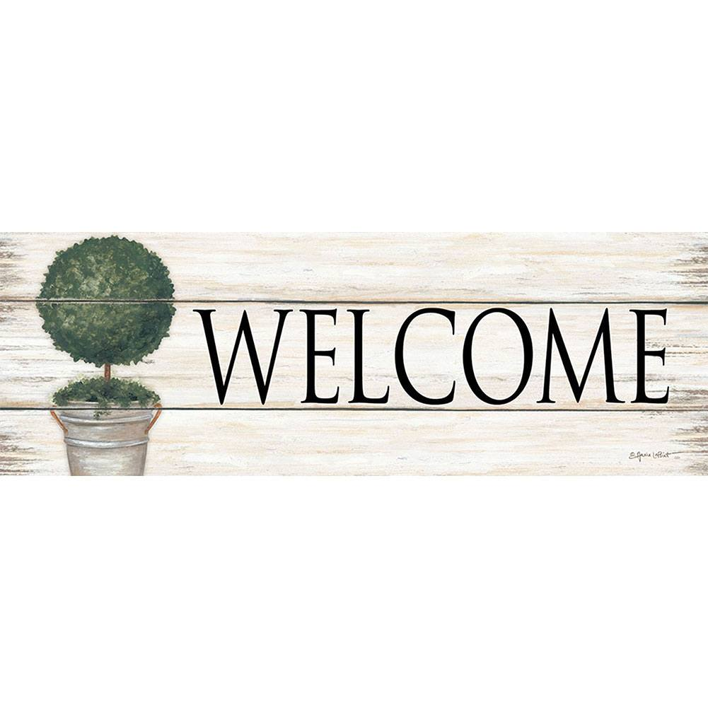 Welcome Topiary Signature Sign