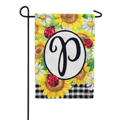 Sunflower Ladybug Double Sided Garden Flag