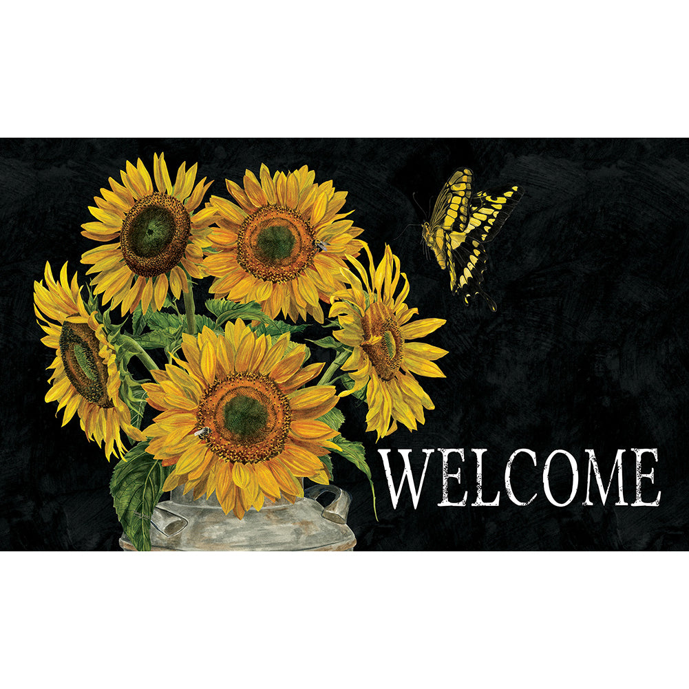 Sunflower Stripes Doormat