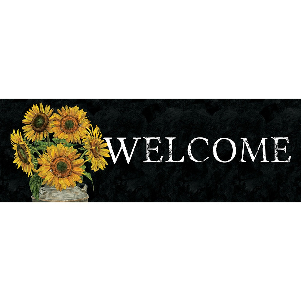 Sunflower Stripes Signature Sign