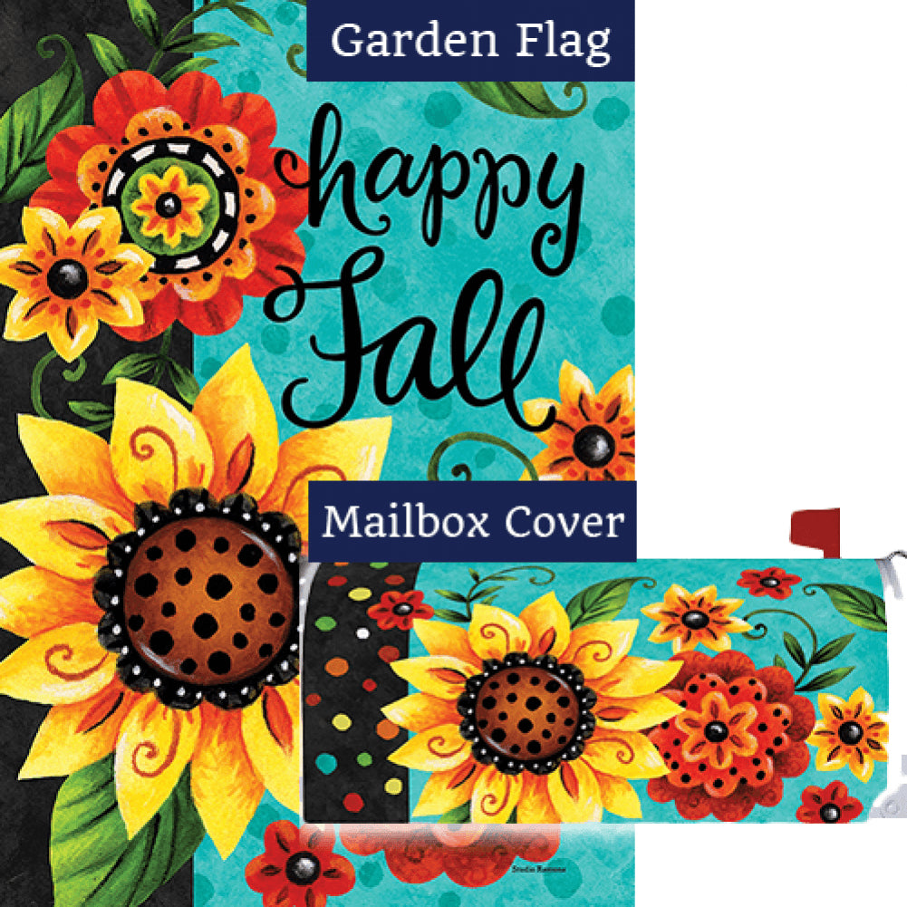 Whimsy Flowers Double Sided Flag Mailwrap Set (2 Pieces)
