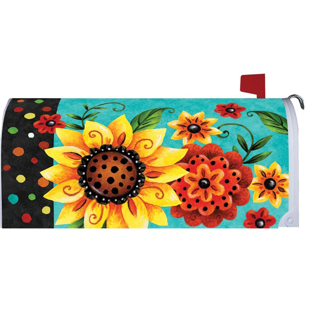 Whimsy Flowers Mailbox Cover