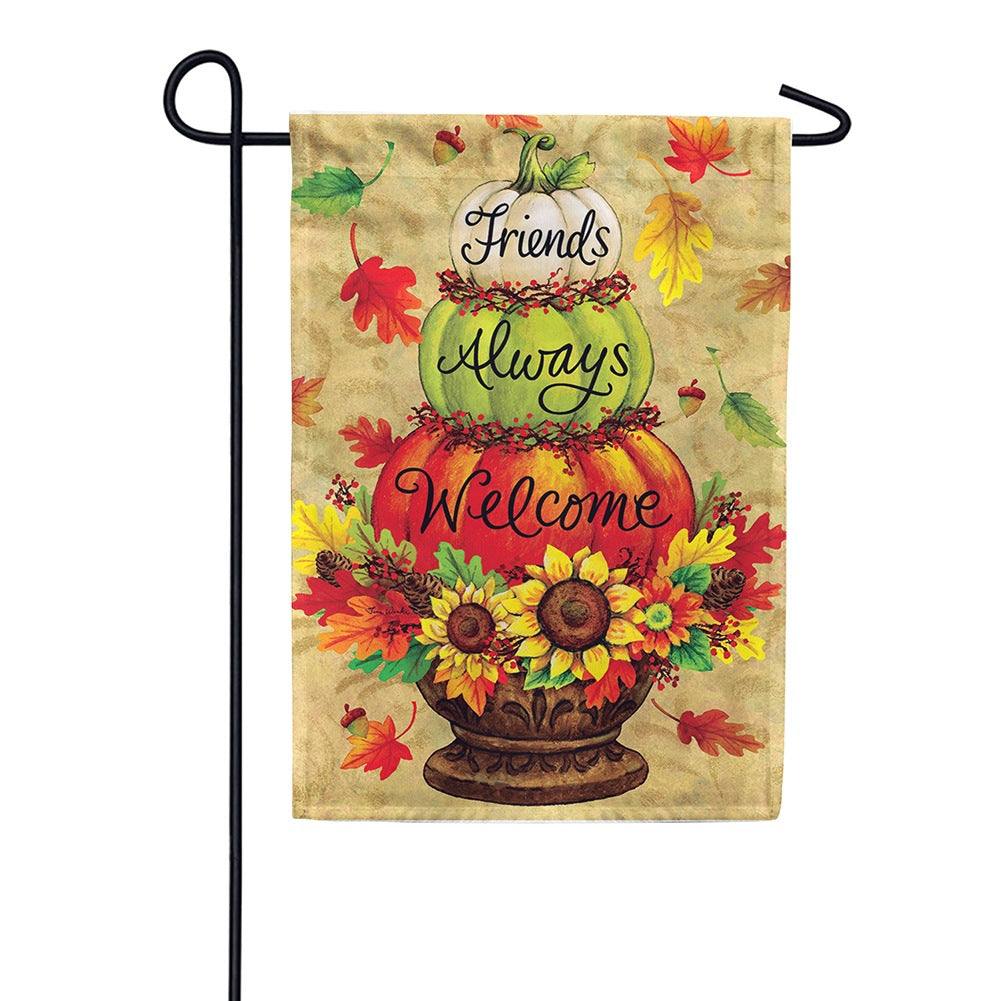 Pumpkin Topiary Double Sided Garden Flag