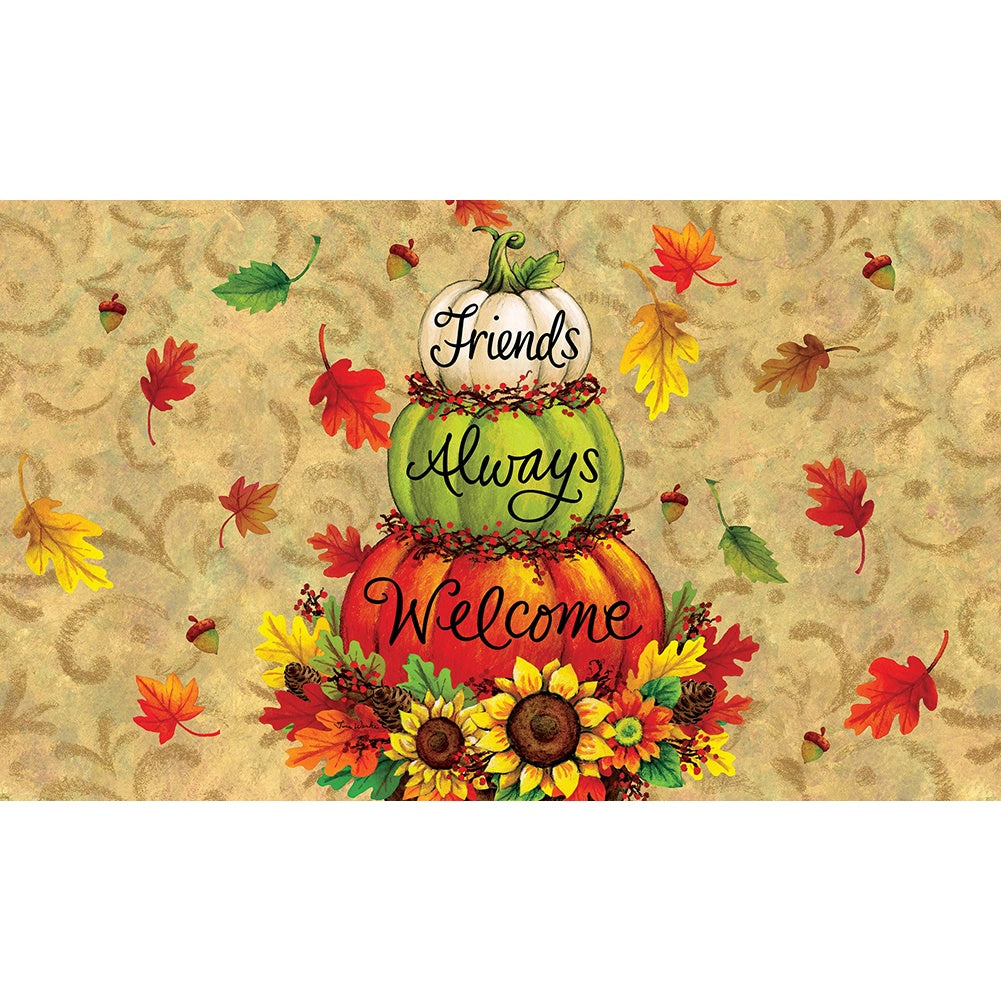 Pumpkin Topiary Doormat