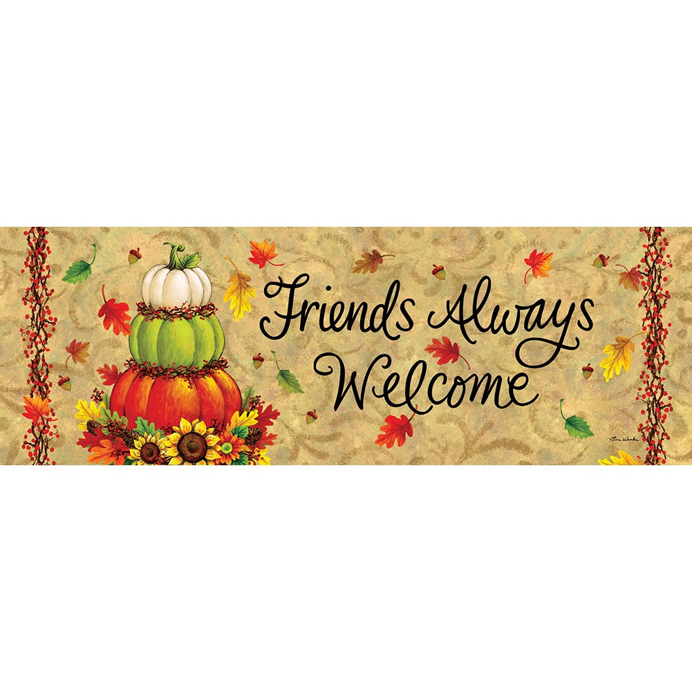 Pumpkin Topiary Signature Sign