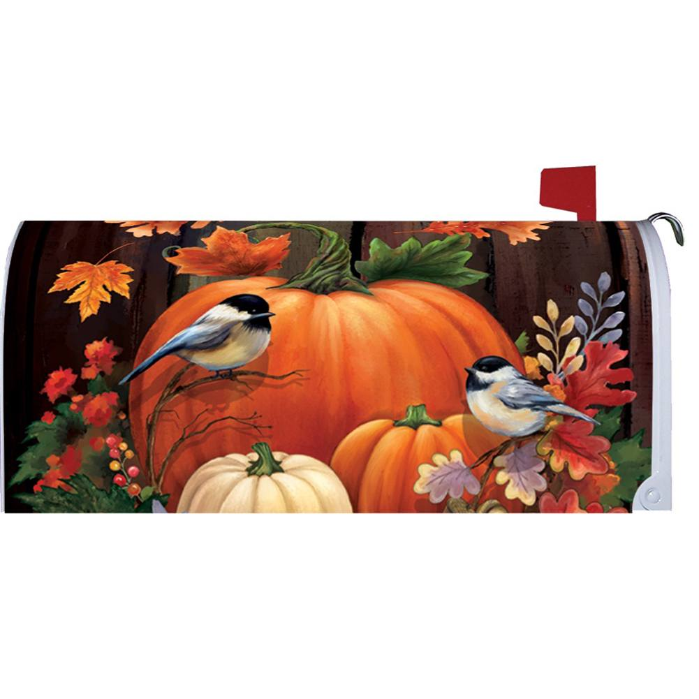 Pumpkin Barrel Mailbox Cover
