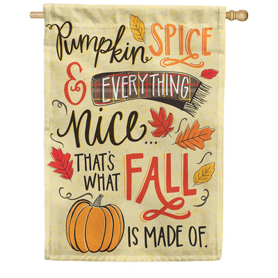 Pumpkin Spice Fall Double Sided House Flag