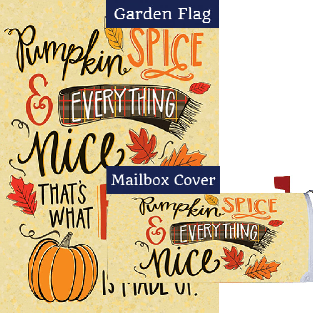 Pumpkin Spice Fall Double Sided Flag Mailwrap Set (2 Pieces)