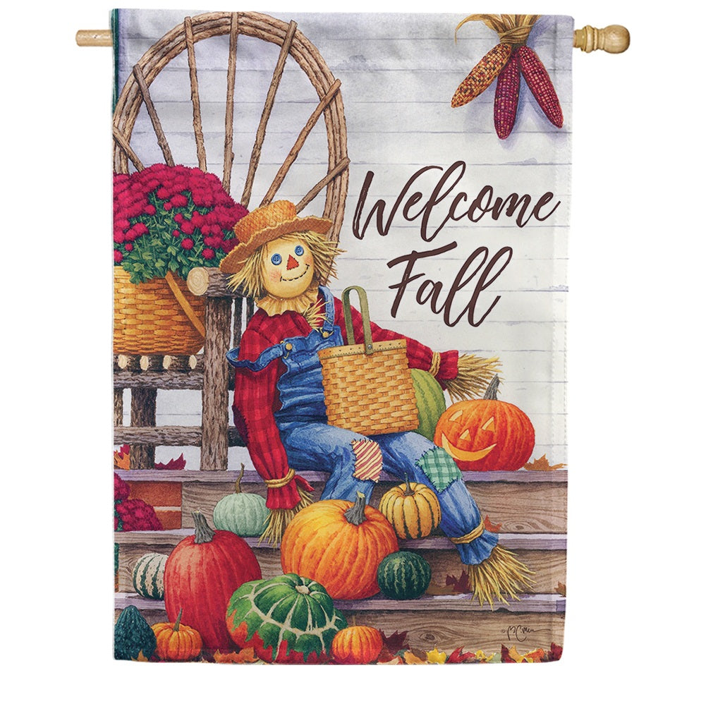 Scarecrow Porch Double Sided House Flag