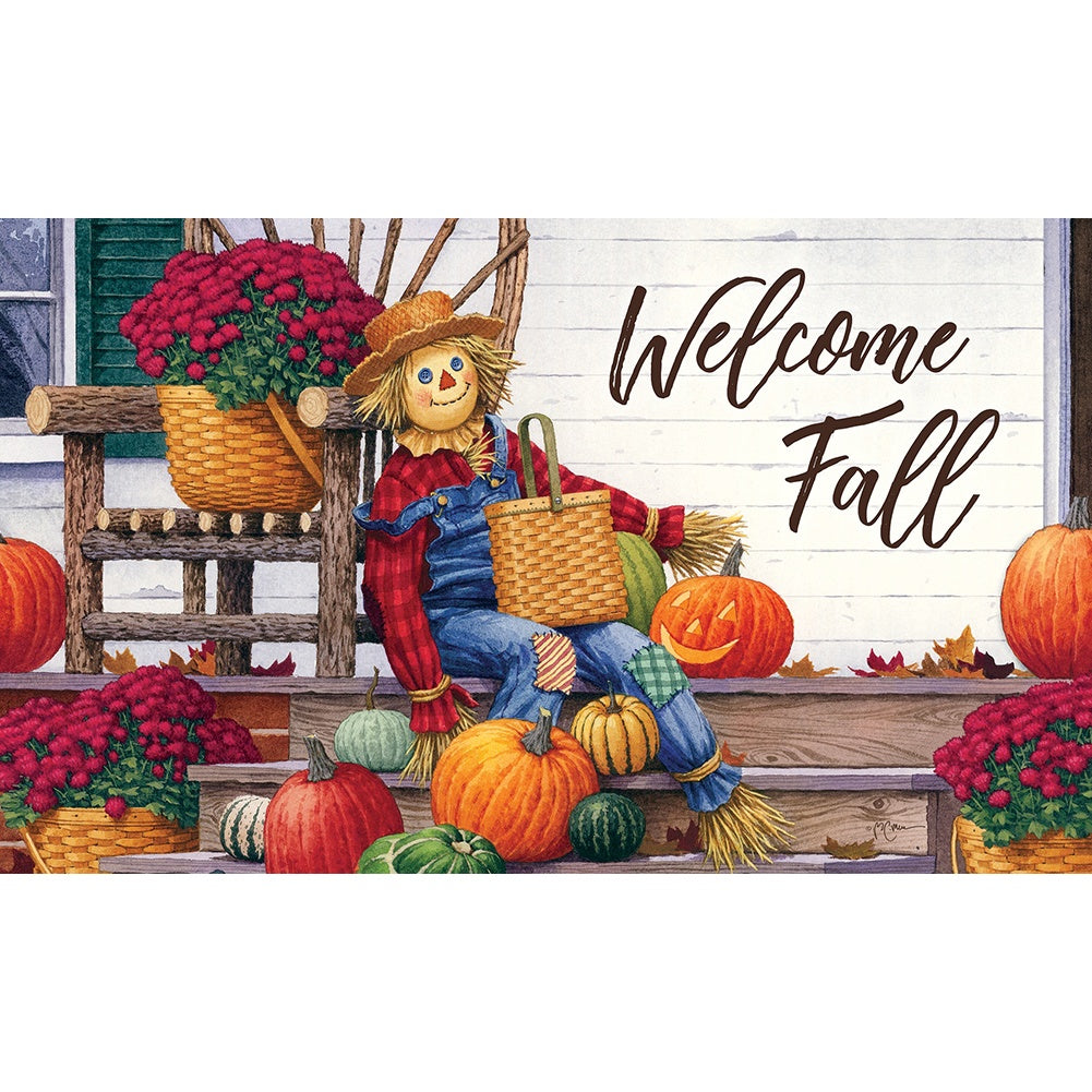 Scarecrow Porch Doormat