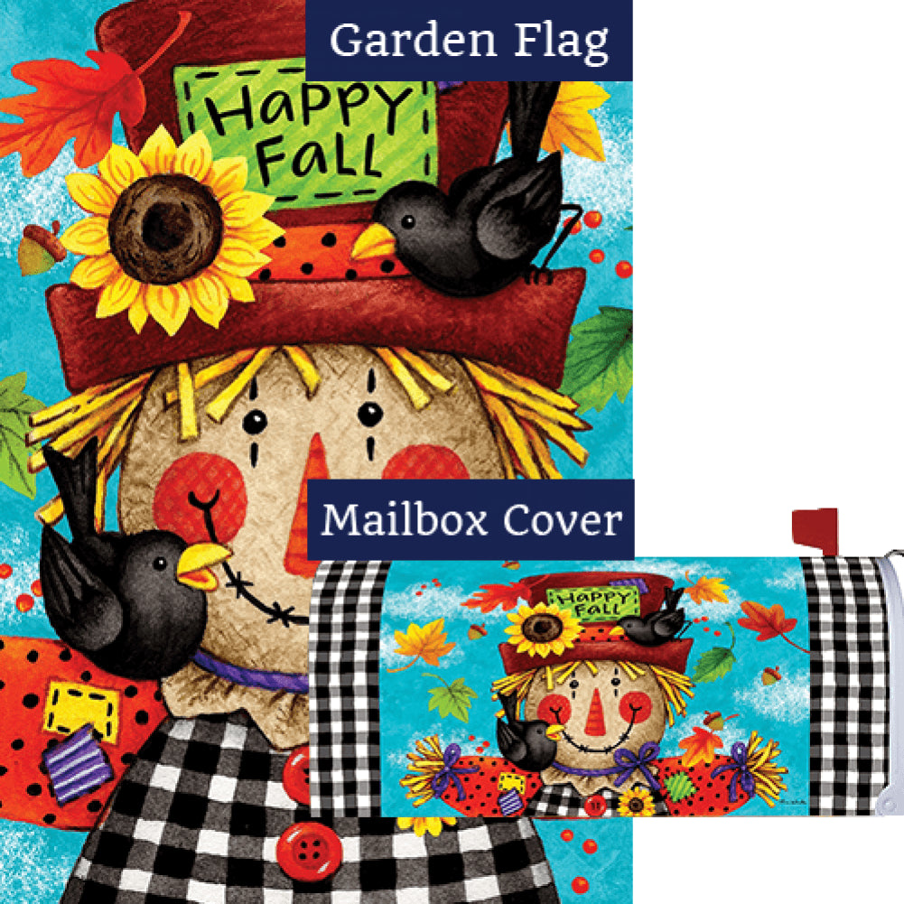 Happy Scarecrow Fall Double Sided Flag Mailwrap Set (2 Pieces)