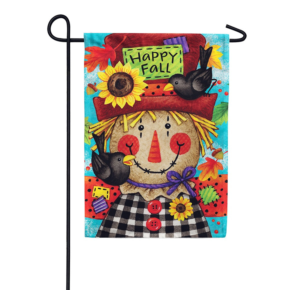 Happy Scarecrow Fall Double Sided Garden Flag