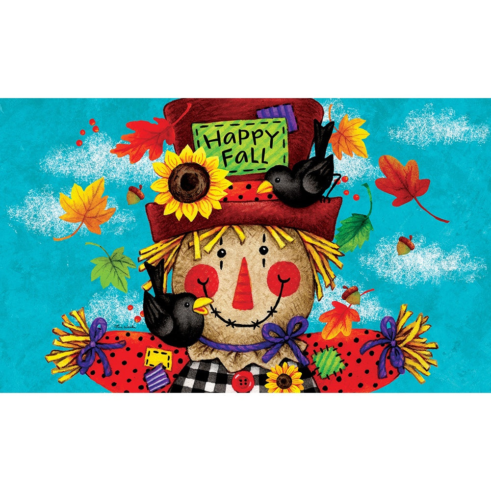 Happy Scarecrow Fall Doormat