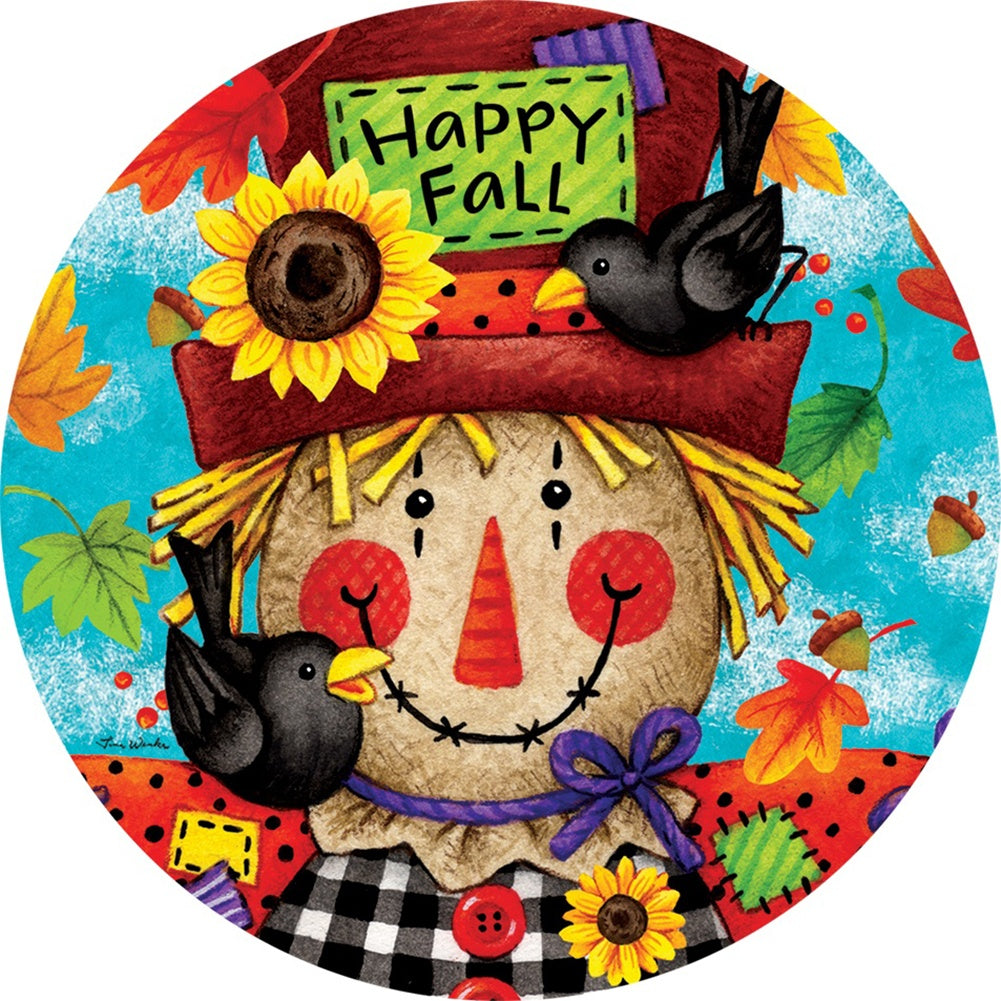 Happy Scarecrow Fall Accent Magnet