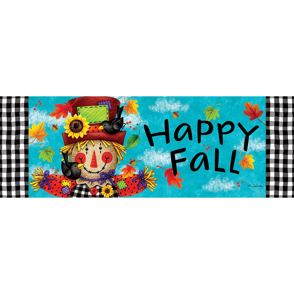 Happy Scarecrow Fall Signature Sign