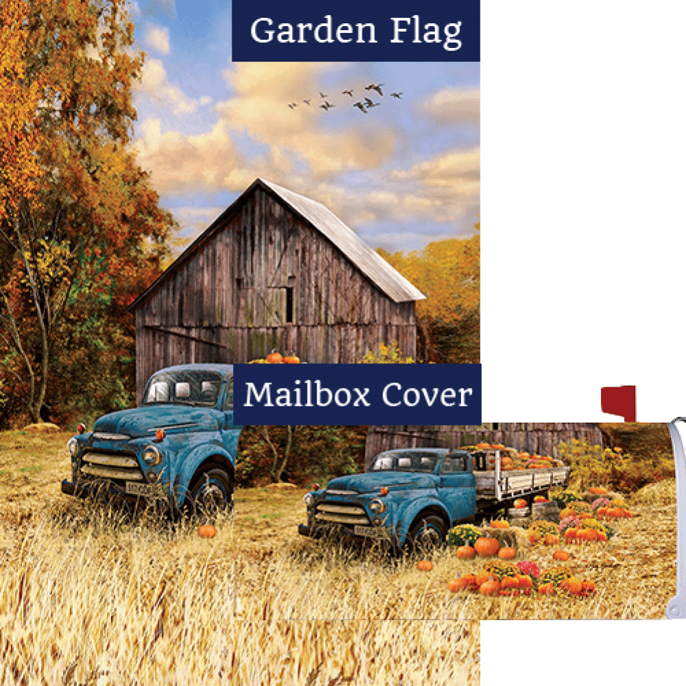 Pumpkin Truck Farm Flag Mailwrap Set (2 Pieces)
