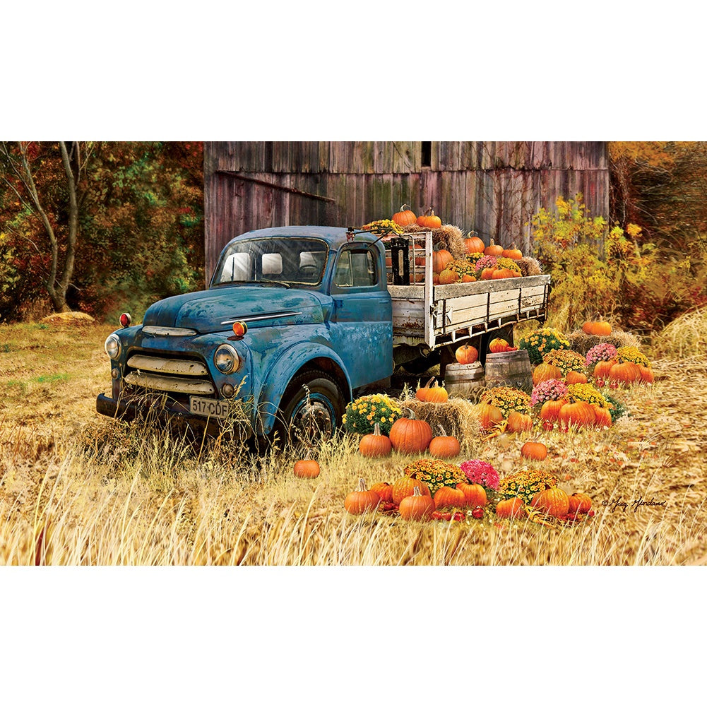 Pumpkin Truck Farm Doormat