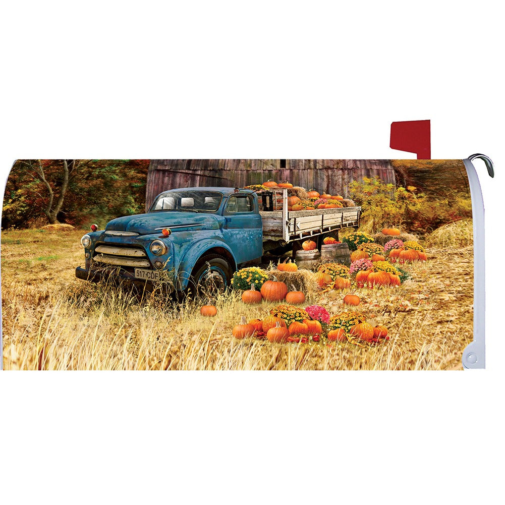 Pumpkin Truck Farm Mailbox Cover