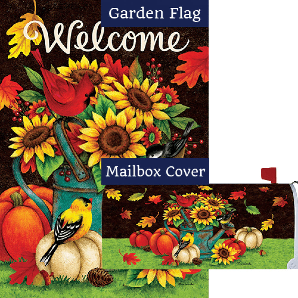 Sunflowers & Birds Double Sided Flag Mailwrap Set (2 Pieces)