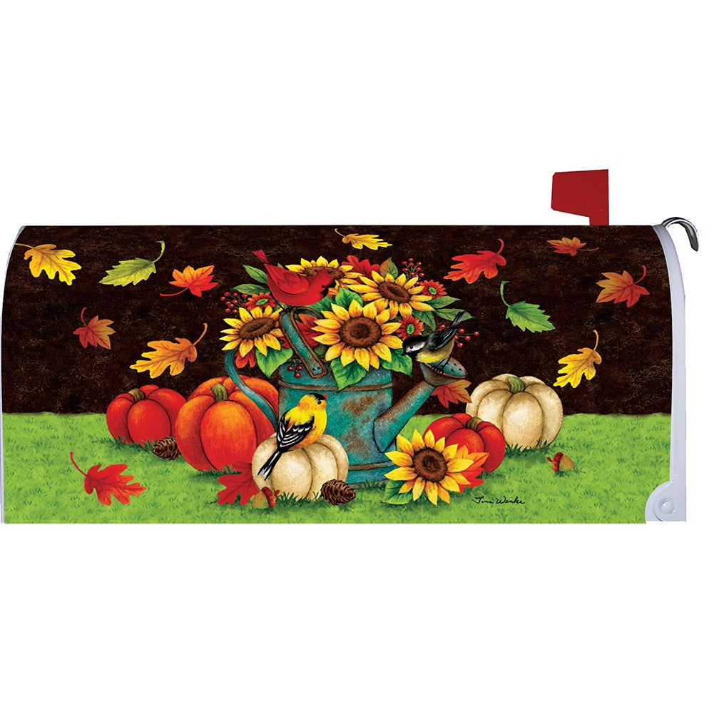 Sunflowers & Birds Mailbox Cover