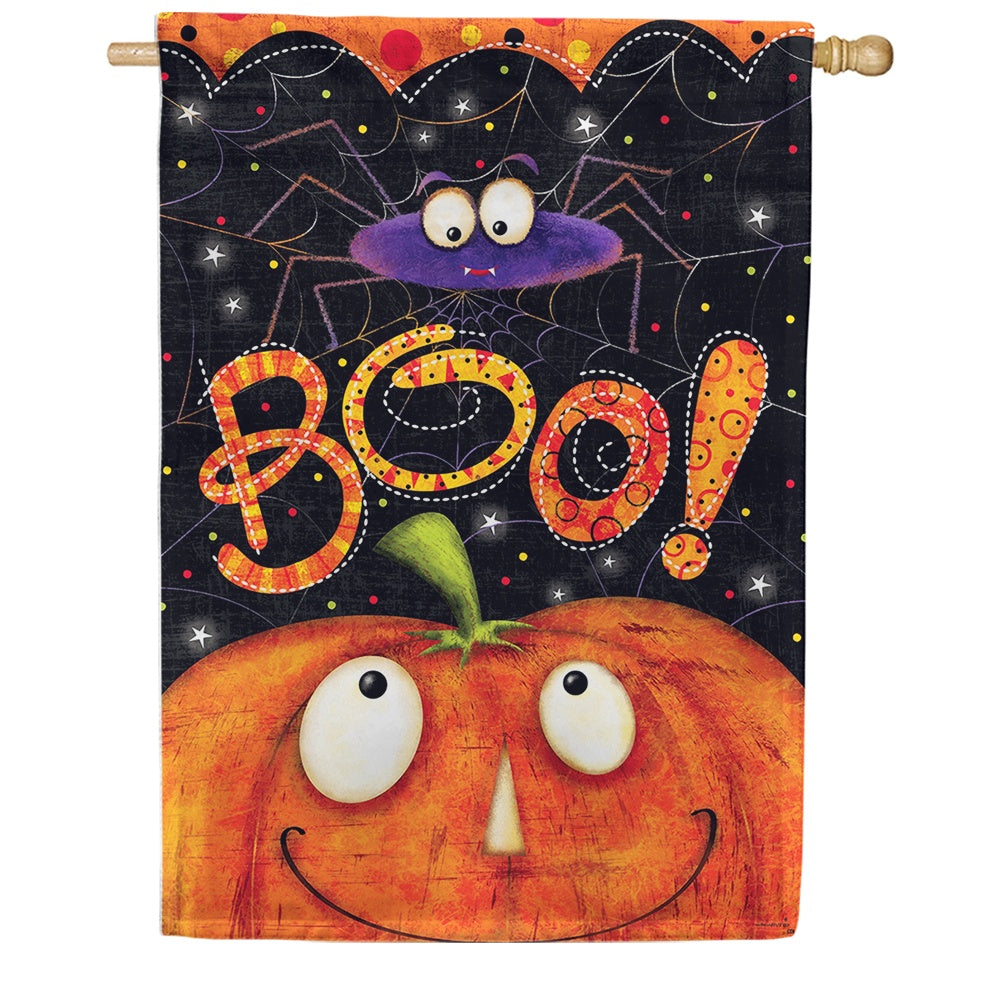 Boo Spider Double Sided House Flag