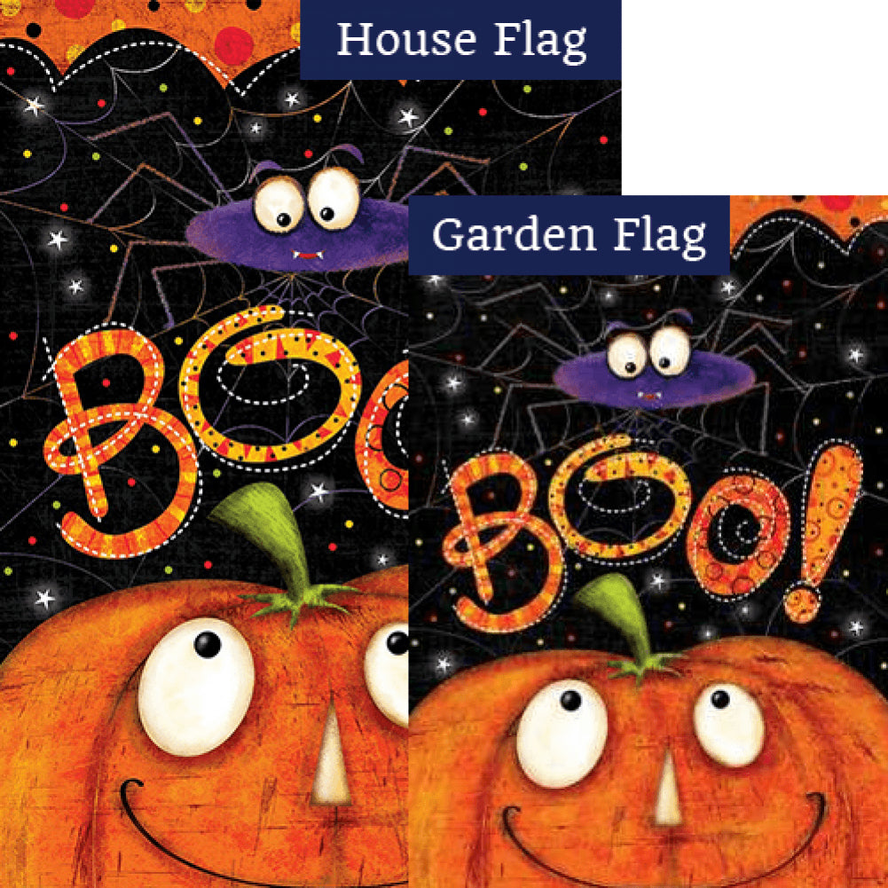 Boo Spider Flags Set (2 Pieces)