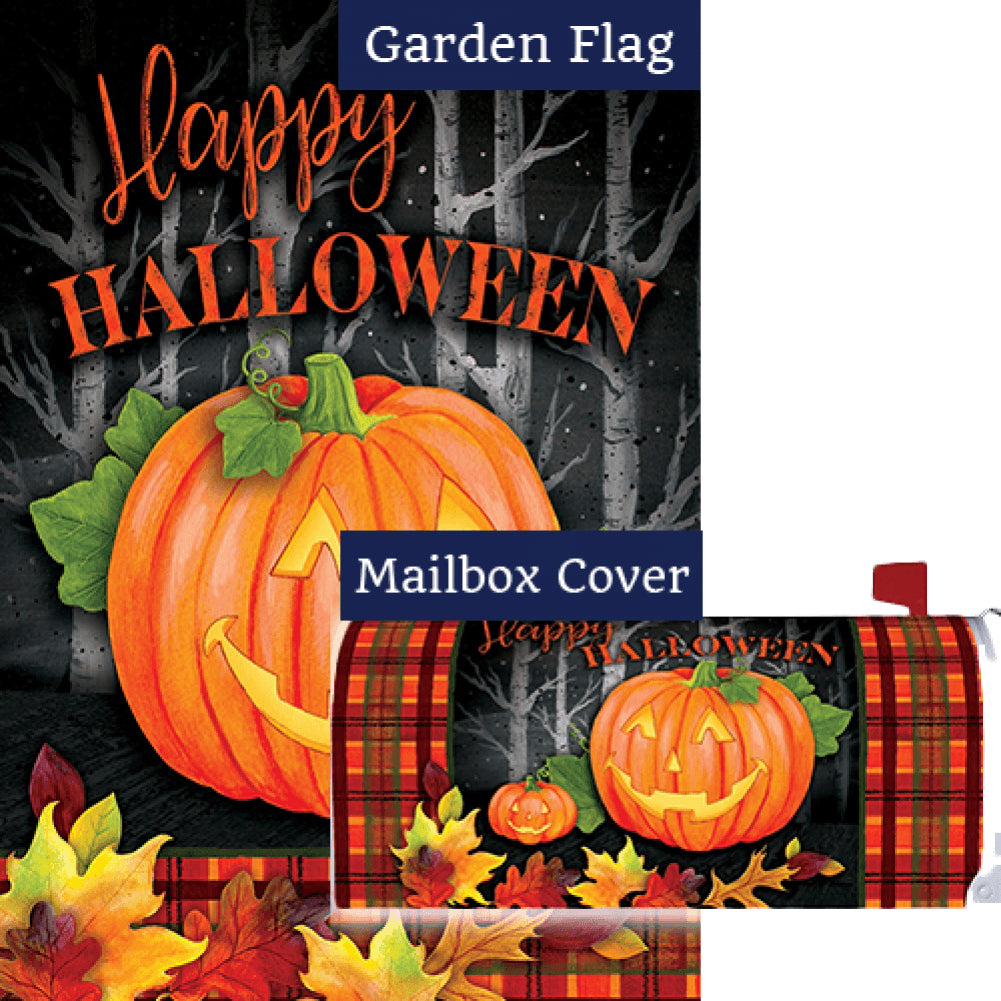 Halloween Jack Double Sided Flag Mailwrap Set (2 Pieces)