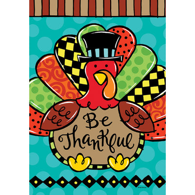 Whimsy Turkey Double Sided House Flag