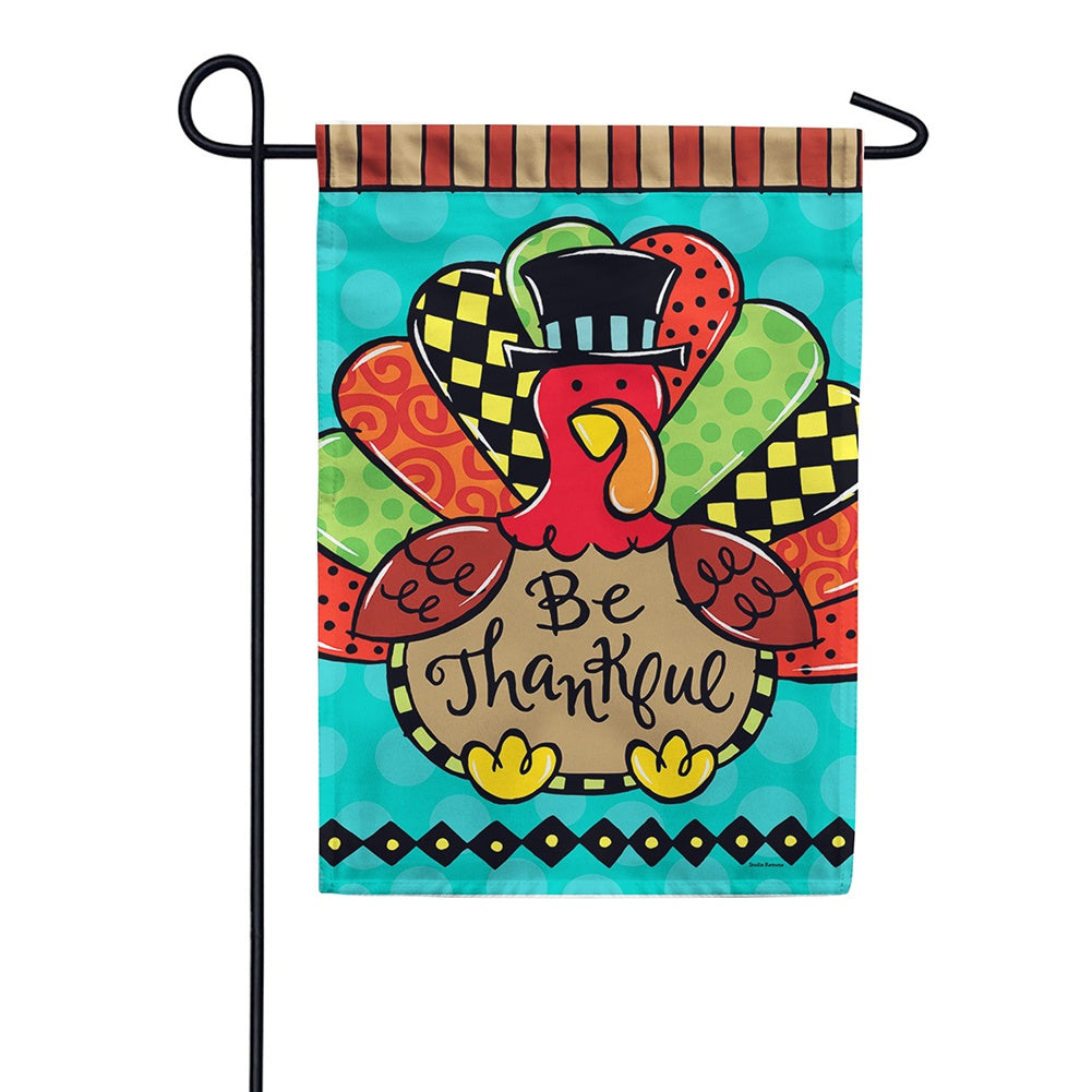 Whimsy Turkey Double Sided Garden Flag