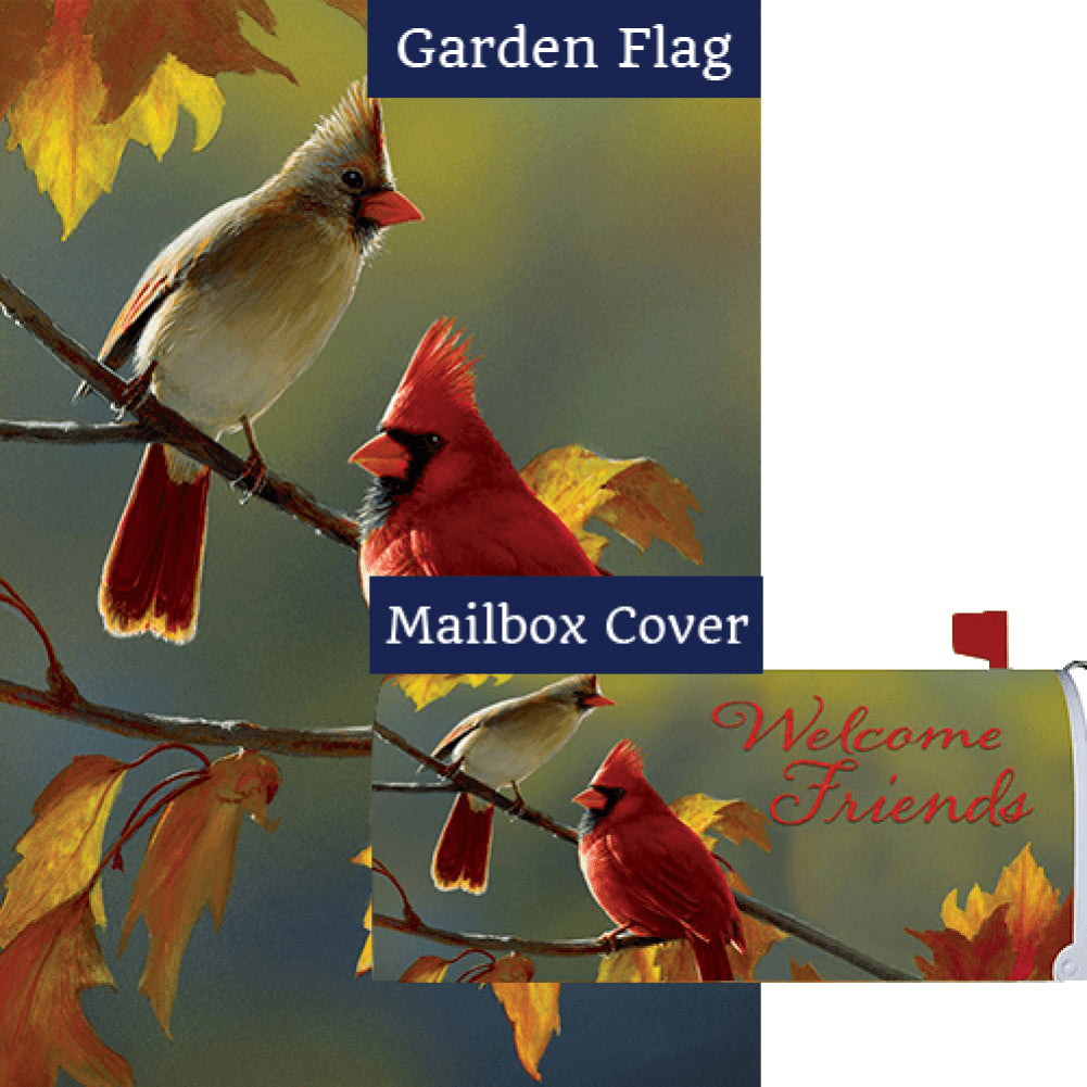 Fall Cardinal Flag Mailwrap Set (2 Pieces)