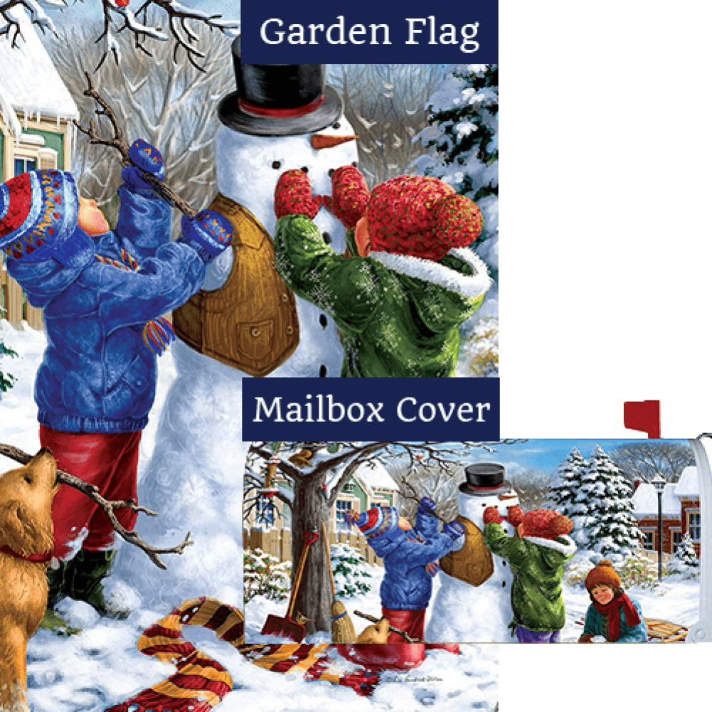 Building A Snowman Flag Mailwrap Set (2 Pieces)