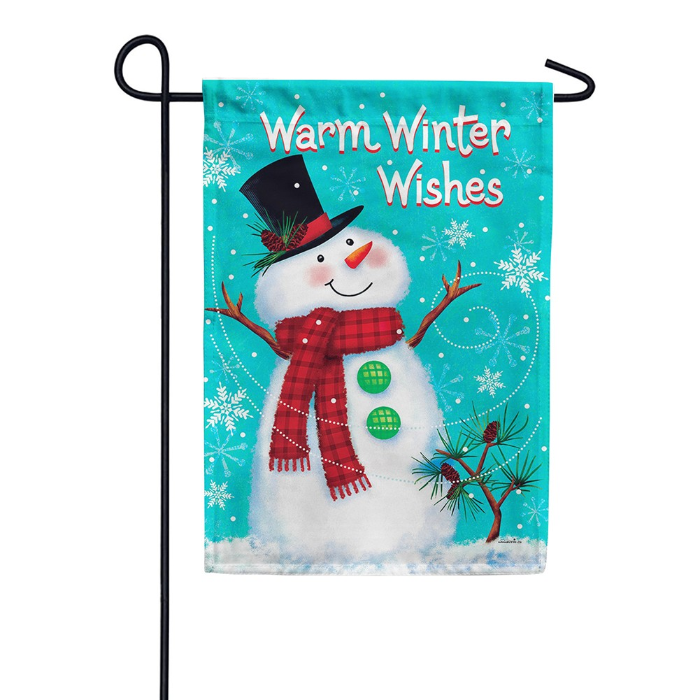 Winter Snowman Double Sided Garden Flag