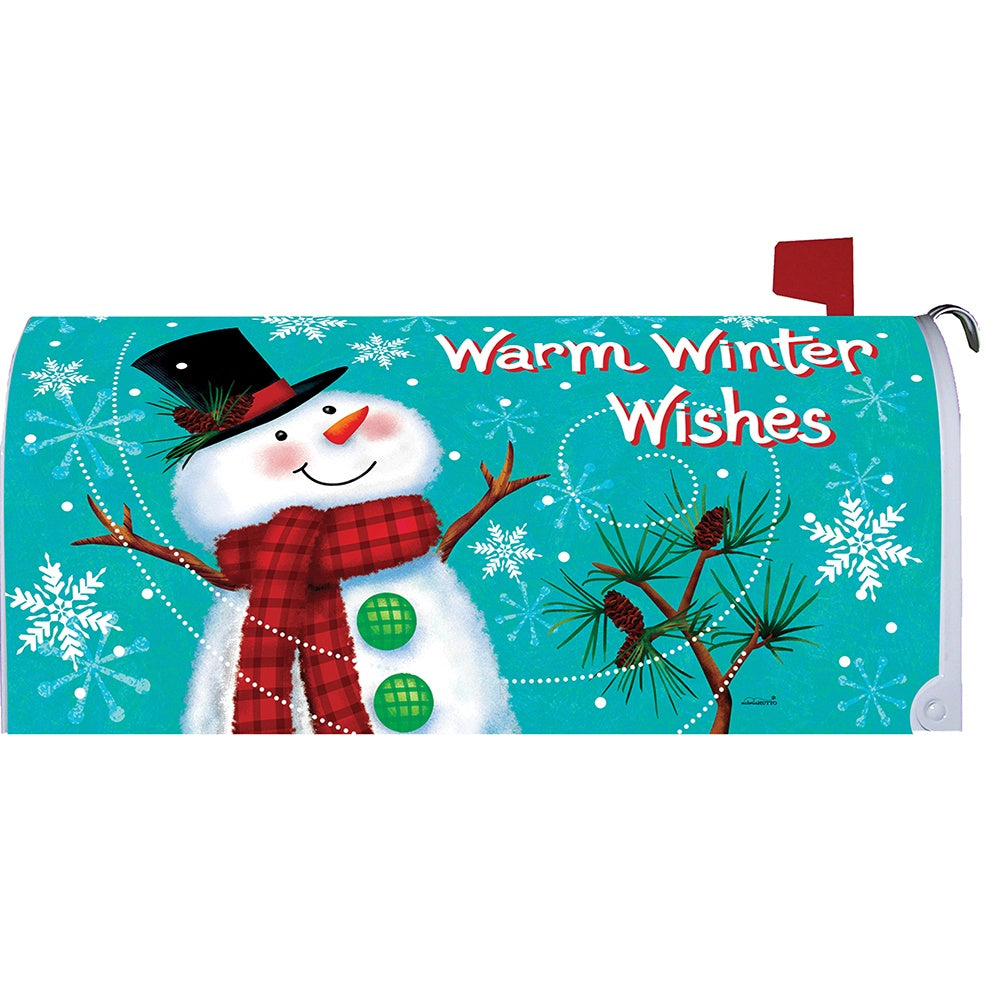 Winter Snowman Mailbox Cover