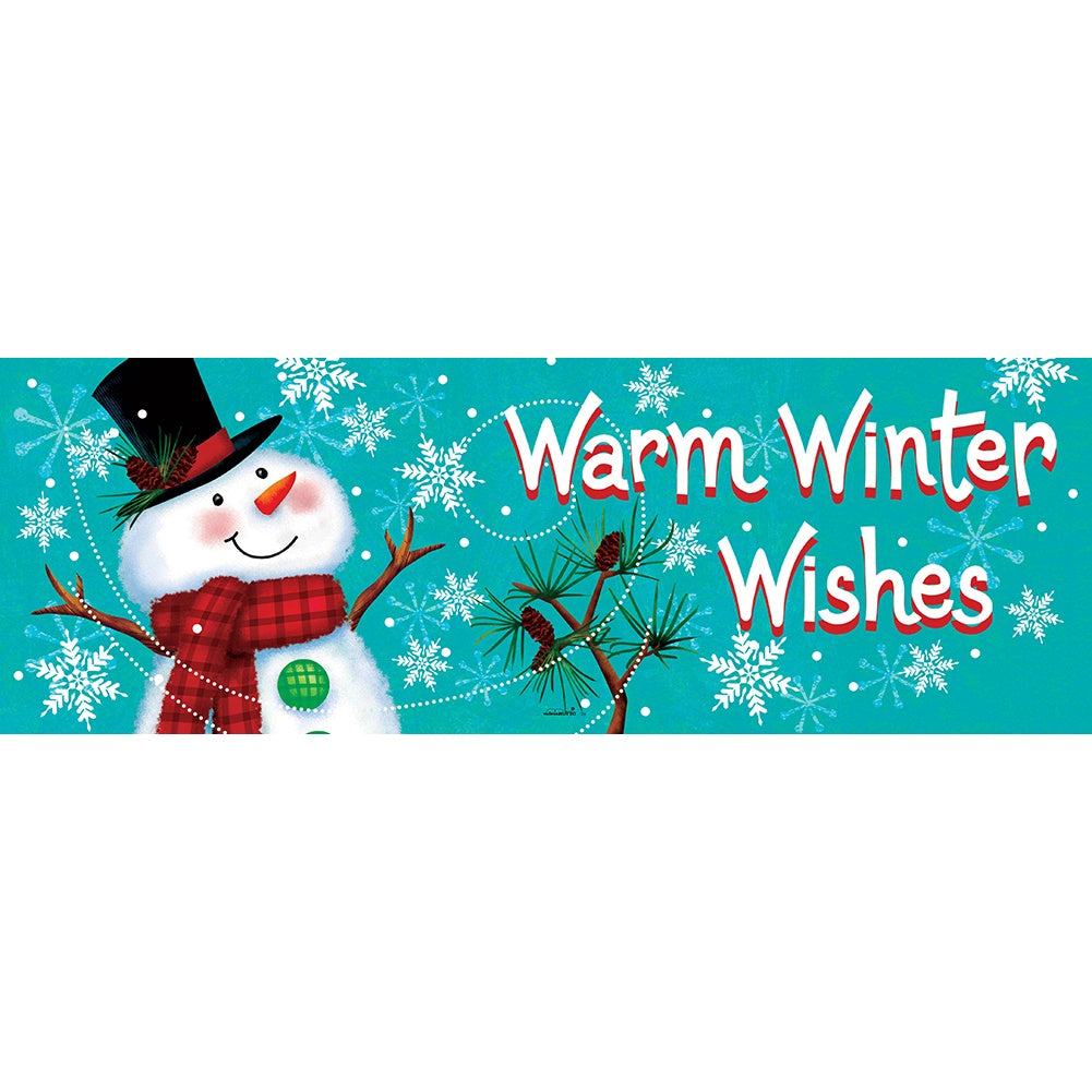 Winter Snowman Signature Sign