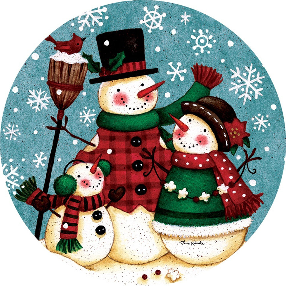 Snow Family Christmas Accent Magnet