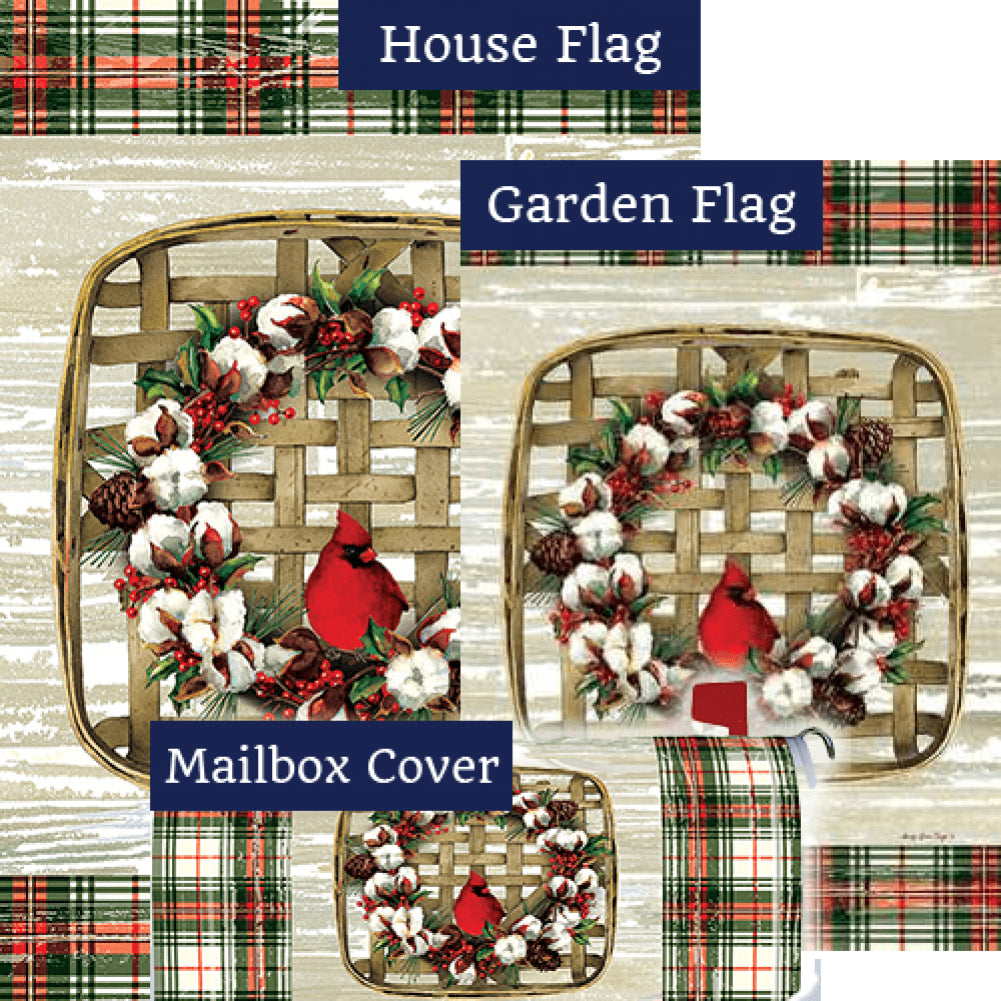 Cardinal Cotton Wreath Yard Makeover Set (3 Pieces)