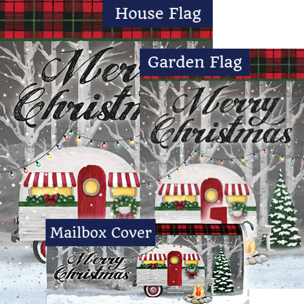 Merry Christmas Camper Double Sided Yard Makeover Set (3 Pieces)