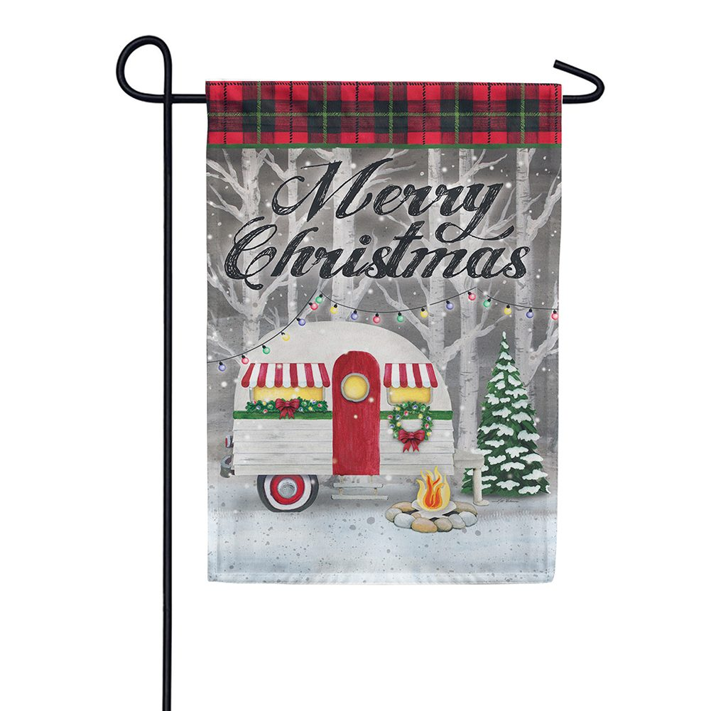 Merry Christmas Camper Double Sided Garden Flag