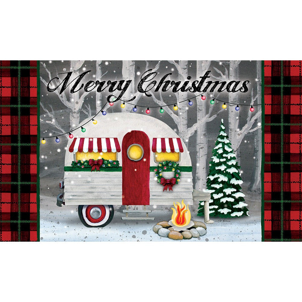Merry Christmas Camper Doormat