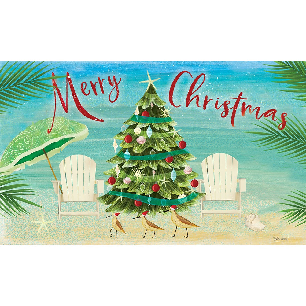 Merry Coastal Christmas Doormat