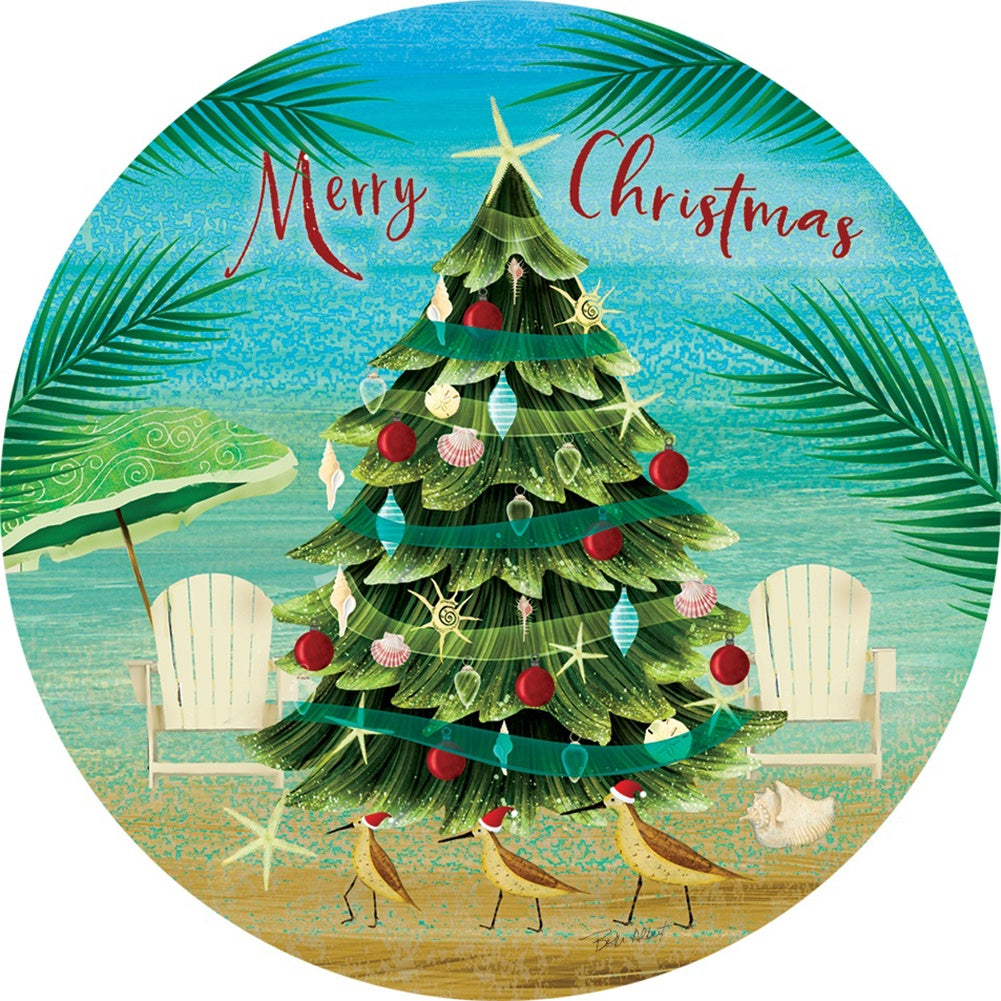 Merry Coastal Christmas Accent Magnet