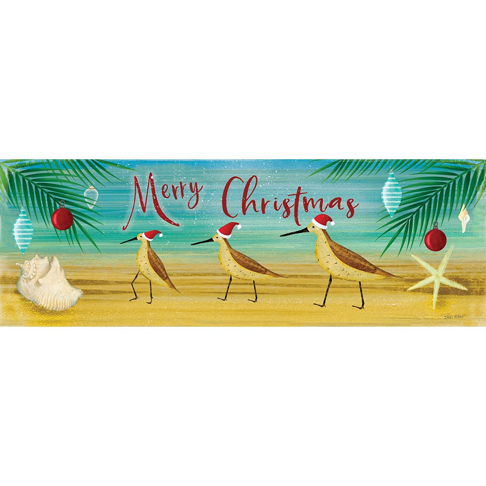 Merry Coastal Christmas Signature Sign