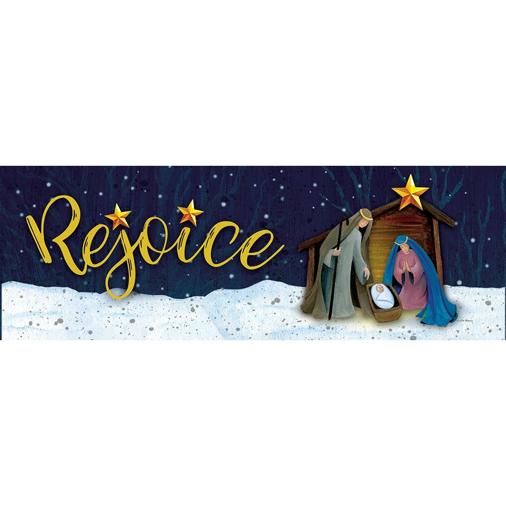Rejoice Manger Signature Sign