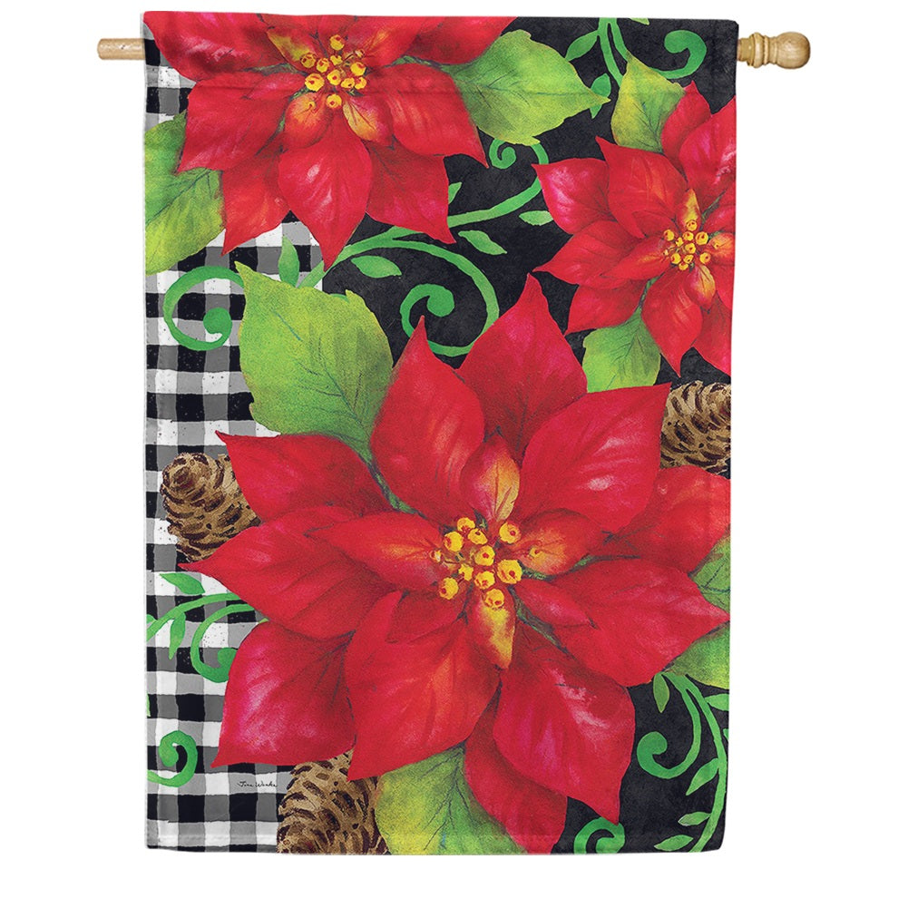 Poinsettia Check House Flag