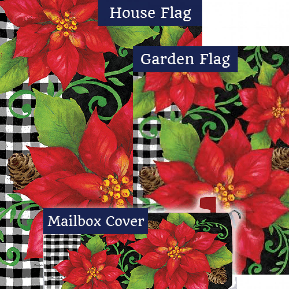 Poinsettia Check Yard Makeover Set (3 Pieces)