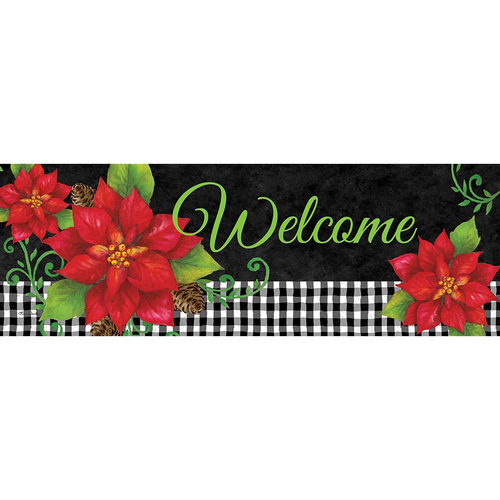 Poinsettia Check Signature Sign
