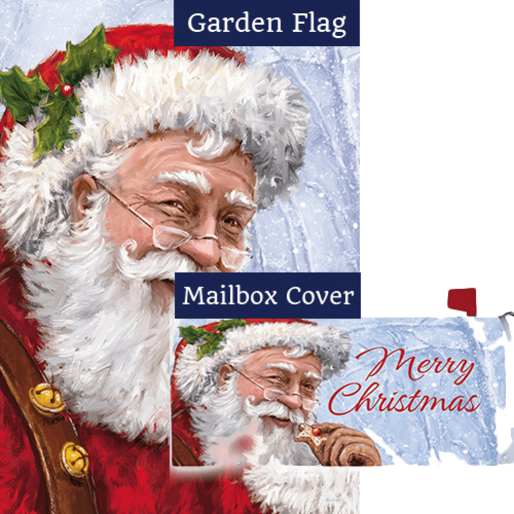 Santa Cookie Flag Mailwrap Set (2 Pieces)