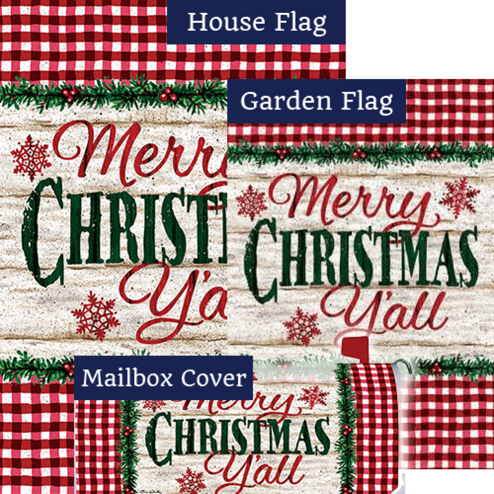 Christmas Y'all Double Sided Yard Makeover Set (3 Pieces)